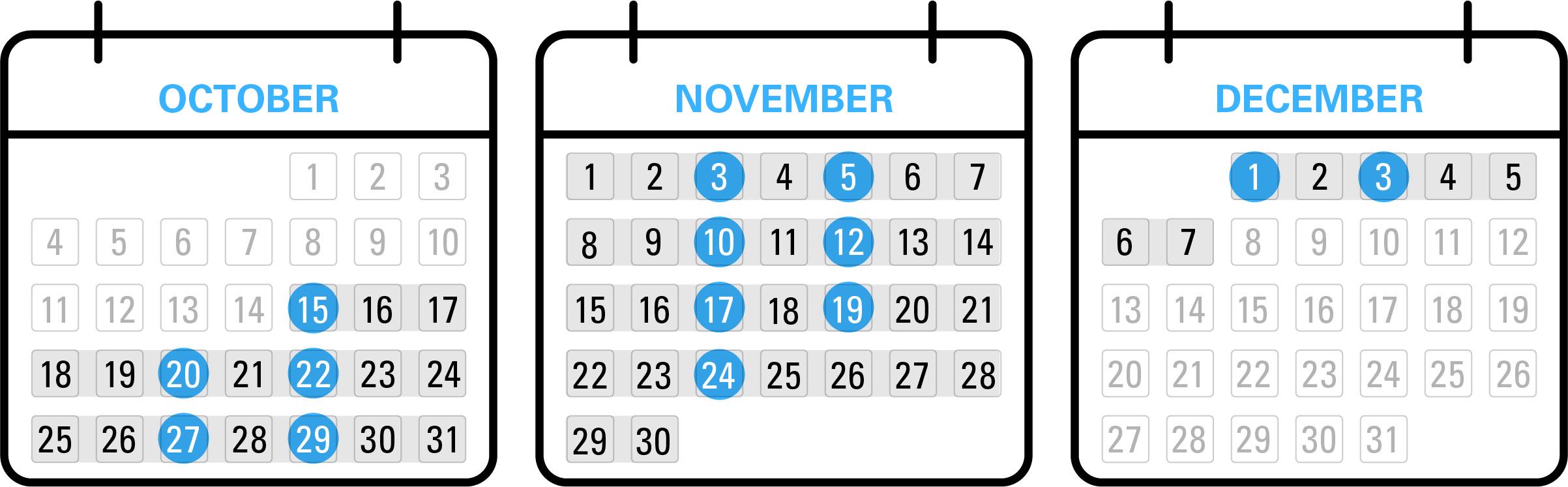 Medicare open enrollment calendar